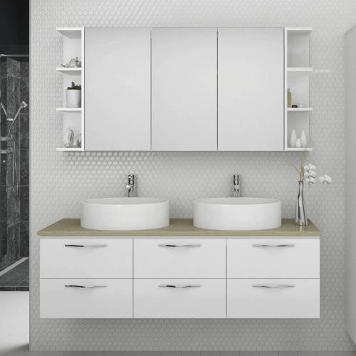 Timberline platnium ashton wall hung timber brisbane for Bathroom cabinets 1800mm
