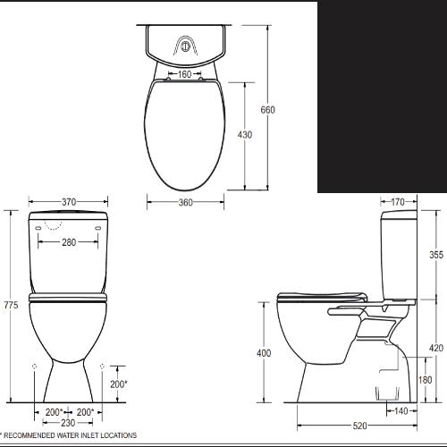 Johnson Suisse Supplier Civic Toilet Suite