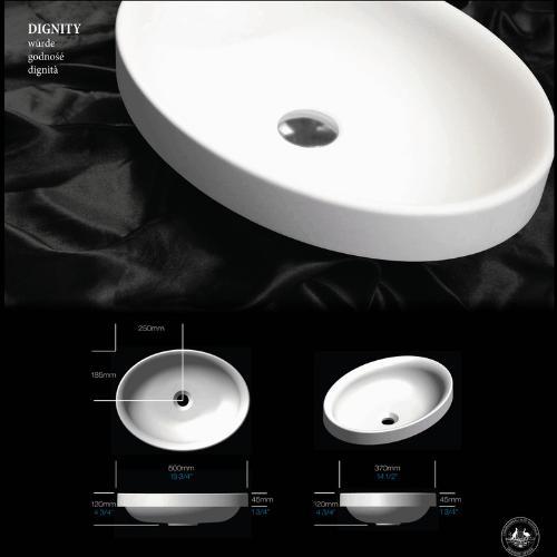 ADP: Dignity Semi-Inset Basin 500mm | Bathrooms Are Us
