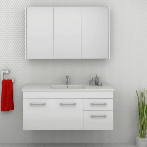 Timberline indiana wall hung cabinets brisbane bathrooms for Bathrooms r us brisbane