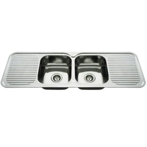 Everhard Nugleam 1380 Kitchen Sink Double Bowl and Double Drainer