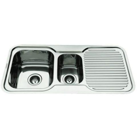 Everhard Nugleam 980 Kitchen Sink 1 & 1/2 Bowl and Drainer