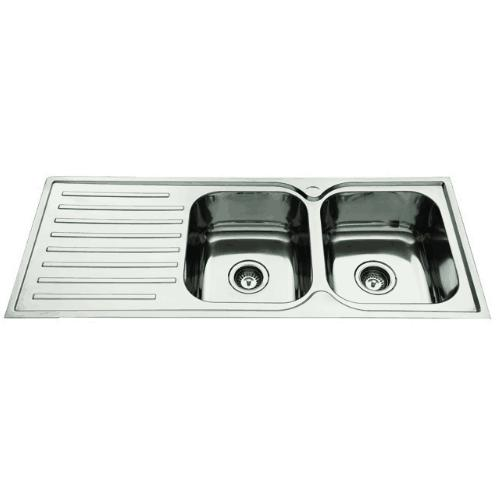 Everhard Squareline 1180 Kitchen Sink Double Bowl and Drainer