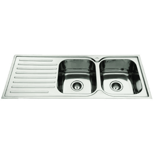 Everhard Squareline 1180 Kitchen Sink Double Bowl and Drainer ...
